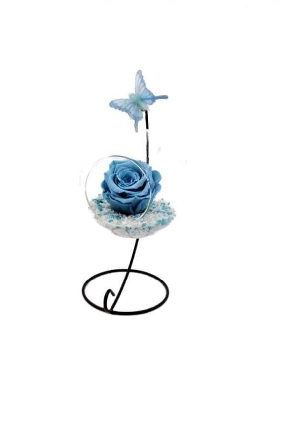 trandafir criogenat wide flowers in bol de sticla