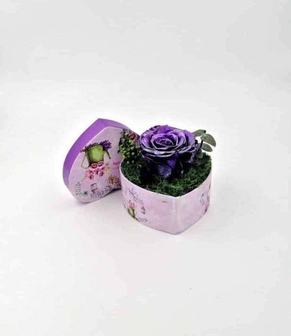 trandafir criogenat mov metalizat